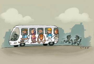 Bus graffiti