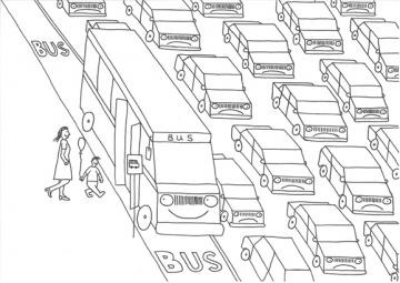 Use the bus and beat the traffic