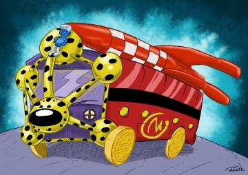 modèle bus bande dessinée